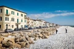 DI PISA do PORTO, ITÁLIA - Avril 24, 2017: Vista do mar e Fotografia de Stock