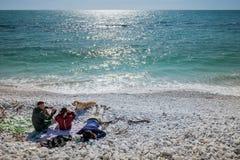 DI PISA do PORTO, ITÁLIA - Avril 24, 2017: Vista do mar e Imagem de Stock Royalty Free
