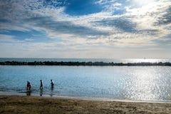 DI PISA do PORTO, ITÁLIA - Avril 24, 2017: Vista do mar e Foto de Stock