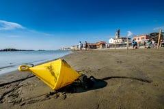 DI PISA do PORTO, ITÁLIA - Avril 24, 2017: Vista do mar e Imagens de Stock Royalty Free