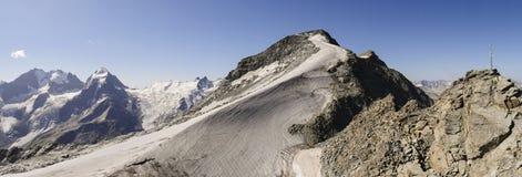 ` Di Piz Corvatsch del ` del picco di montagna, Graubunden, alpi svizzere, Svizzera Immagine Stock