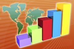 Di previsione priorità bassa finanziaria di affari globalmente Fotografia Stock