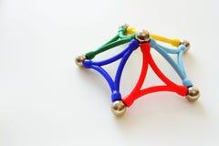 di progettista magnetico di plastica colorato Multi del ` s dei bambini fotografia stock