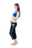 Di quattro mesi della gravidanza Fotografie Stock