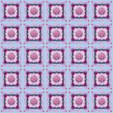 ` Di Rododendron del ` - progettazione senza cuciture del modello nello stile creativo del collage - pastelli e rose Immagine Stock Libera da Diritti