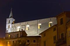 Di Roma de Fabrica por noche Imagen de archivo