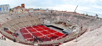 Di romanos Verona, Verona, Italia de la arena del amphitheatre foto de archivo