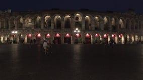 Di romanos Verona - Italia de la arena del amphitheatre almacen de metraje de vídeo
