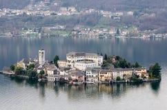 Di San Giulio di Lago di Orta Isola Fotografie Stock Libere da Diritti