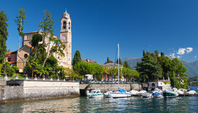 Di San Lorenzo, Tremezzo, lago Como, Italia, Europa di Chiesa Fotografia Stock Libera da Diritti