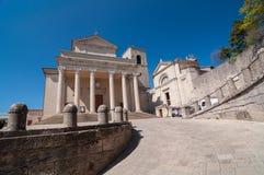 Di San Marino della basilica Immagine Stock