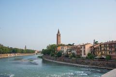 Di Santa Anastasia de la basílica en Verona, Italia fotografía de archivo libre de regalías