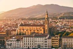 Di Santa Croce базилики в Флоренсе, Италии Стоковые Изображения