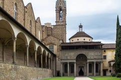 Di Santa Croce базилики в Флоренсе Стоковые Изображения