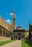Di Santa Croce da basílica. Florença, Itália foto de stock royalty free