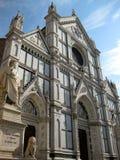 Di Santa Croce e Dante di Chiesa Immagine Stock