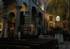Di Santa Maria Assunta de la catedral o de Cattedrale Metropolitana Primaziale de Pisa Imagen de archivo