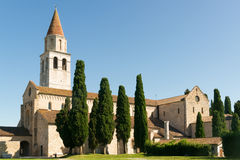 Di Santa Maria Assunta van de basiliek in Aquileia Stock Foto's