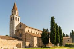 Di Santa Maria Assunta van de basiliek in Aquileia Stock Afbeeldingen