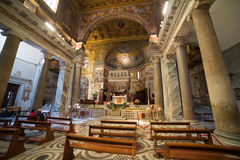 Di Santa Maria da basílica em Trastevere Fotografia de Stock