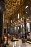 Di Santa Maria da basílica em Trastevere Fotos de Stock