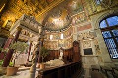Di Santa Maria da basílica em Trastevere Imagens de Stock Royalty Free