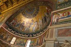 Di Santa Maria da basílica em Trastevere Fotografia de Stock Royalty Free