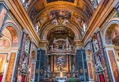 Di Santa Maria da basílica em Trastevere, Roma, Itália Fotografia de Stock Royalty Free