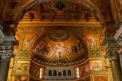 Di Santa Maria da basílica em Trastevere, Roma, Itália Foto de Stock Royalty Free