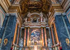 Di Santa Maria de basilique dans Trastevere, Rome, Italie Photographie stock libre de droits