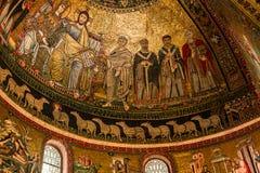 Di Santa Maria de basilique dans Trastevere, Rome, Italie Images libres de droits
