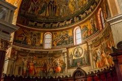 Di Santa Maria de basilique dans Trastevere, Rome, Italie Photos libres de droits