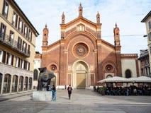 Di Santa Maria del Carmine van kerkchiesa in Milaan royalty-vrije stock afbeeldingen