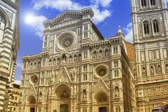 Di Santa Maria del Fiore de Cattedrale ou di Firenze do domo do IL, Italia imagens de stock royalty free