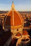 Di Santa Maria del Fiore di Cattedrale al tramonto Immagine Stock Libera da Diritti