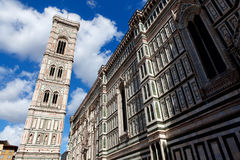 Di Santa Maria del Fiore Florence Firenze Tuscany Italien för Duomocampanilebasilika Royaltyfri Foto