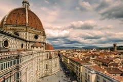 Di Santa Maria del Fiore van de Basiliek in Florence, Italië Royalty-vrije Stock Fotografie