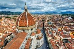 Di Santa Maria del Fiore van de Basiliek in Florence, Italië Royalty-vrije Stock Foto's