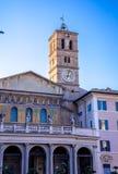 Di Santa Maria della basilica in Trastevere Immagini Stock Libere da Diritti