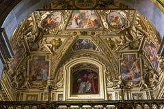 Di Santa Maria della basilica in Trastevere, Roma, Italia Immagini Stock Libere da Diritti