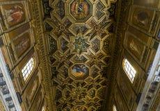 Di Santa Maria della basilica in Trastevere, Roma, Italia Fotografia Stock Libera da Diritti