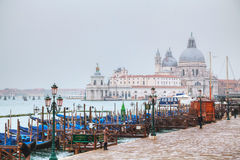 Di Santa Maria della salut jak widzieć od San Marco kwadrata Obraz Royalty Free