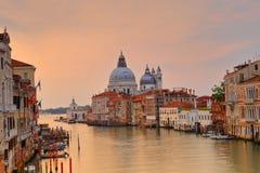 Di Santa Maria della Salute de la basílica en el canal del giudecca en Venecia Fotografía de archivo libre de regalías
