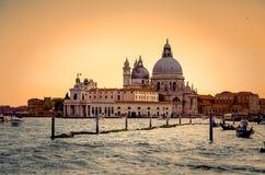 Di Santa Maria della Salute, Venezia, Italia della basilica fotografie stock