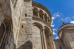 Di Santa Maria Maggiore de la basílica en Bérgamo imagen de archivo libre de regalías