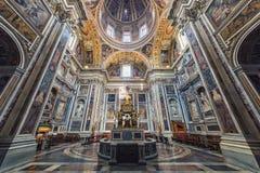 Di Santa Maria Maggiore de Papale de la basílica fotos de archivo