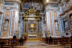 Di Santa Maria Maggiore van de Basiliek in Rome stock afbeelding