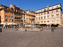 Di Santa Maria Roma Italy da praça Fotografia de Stock Royalty Free