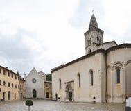 Di Santa Maria, Visso, Macerata de Collegiata Imagenes de archivo