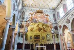Di Santa Restituta da basílica em di Napoli do domo Nápoles, Italy foto de stock royalty free